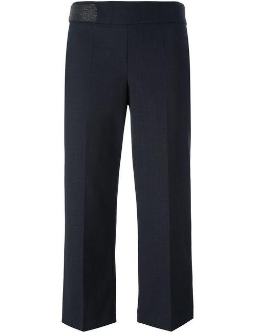Brunello Cucinelli | Черный Pleated Cropped Trousers