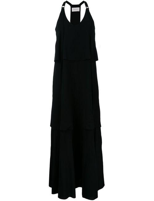STRATEAS CARLUCCI | Женское Чёрный V-Neck Long Dress