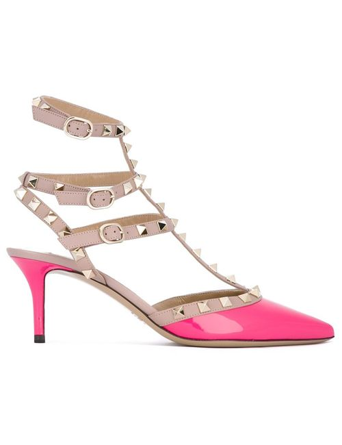 Valentino | Женское Розовый Rockstud Pumps