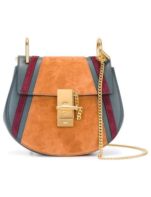 Chloe | Синий Chloé Patchwork Drew Shoulder Bag