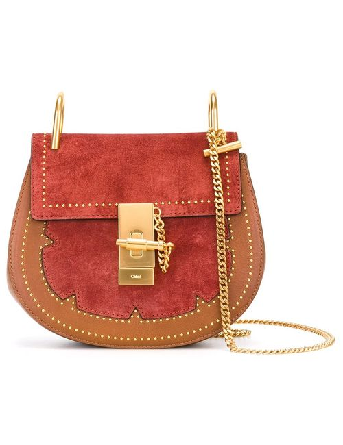 Chloe | Коричневый Chloé Studded Drew Shoulder Bag