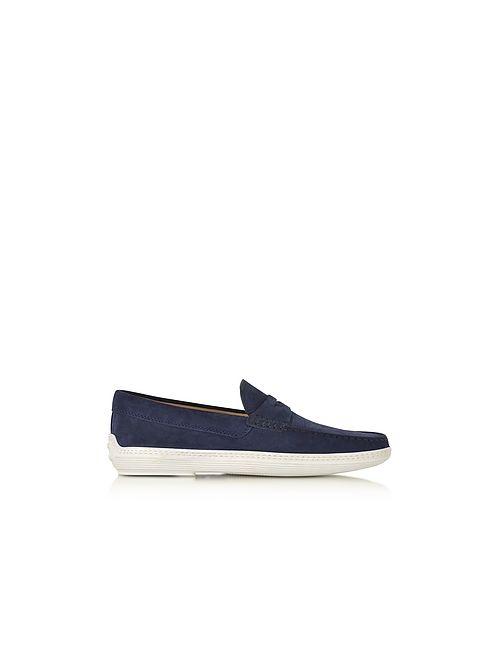 Tod'S | Мужское Синий Marlin Suede Mocassino Shoe