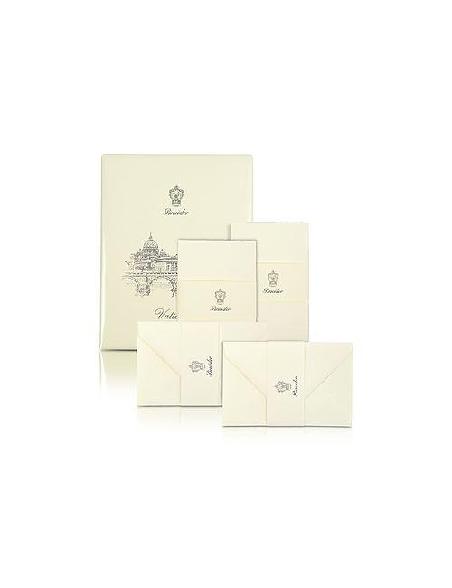 Pineider | Vaticano 25 Ivory Deckle-Edged Note Cards