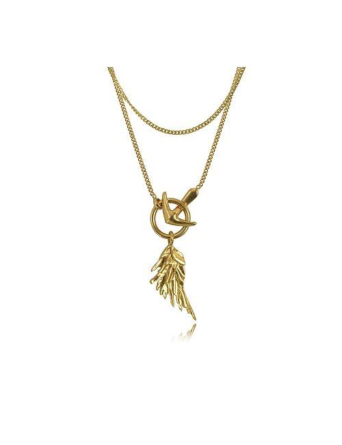Roberto Cavalli | Золотой Wing Antique Necklace