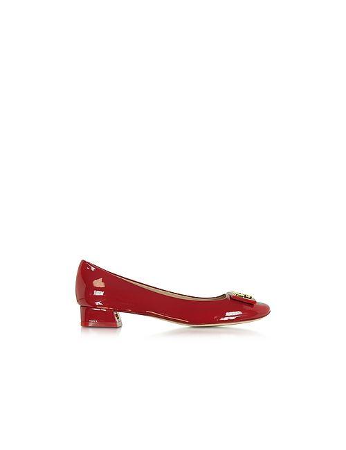 Tory Burch | Красный Gigi Patent Leather Mid-Heel Pump