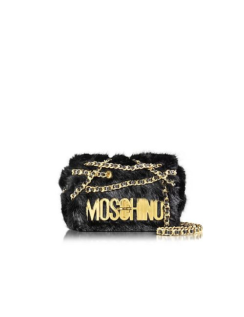 Moschino | Чёрный Faux Fur Shoulder Bag