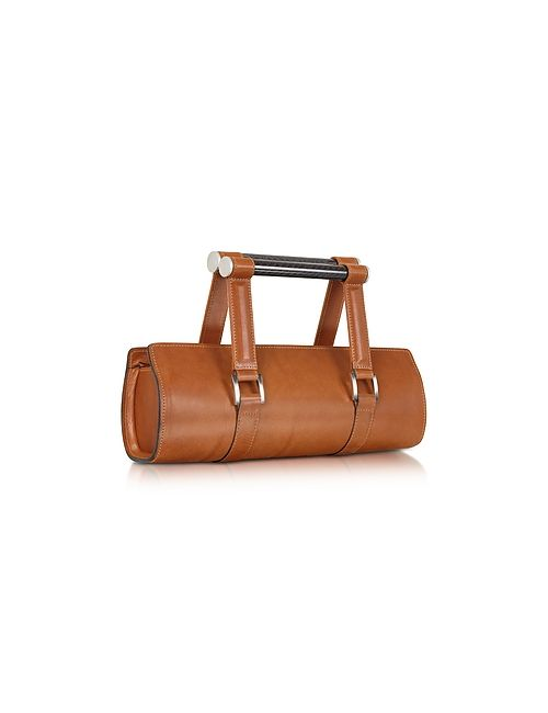 Aznom | Коричневый Carbon Lady Vintage Leather Baguette Bag With