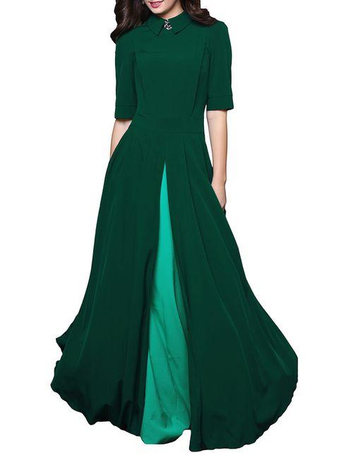 Grey Cat | Женское Зелёное Платье