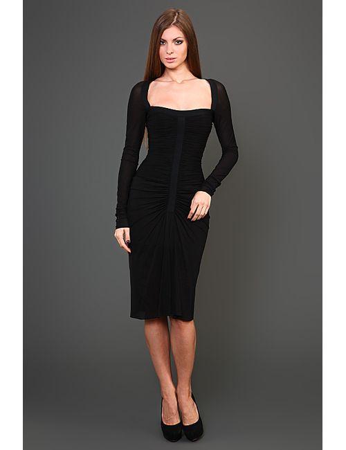 Herve' L. Leroux | Женское Чёрное Платье Вечернее
