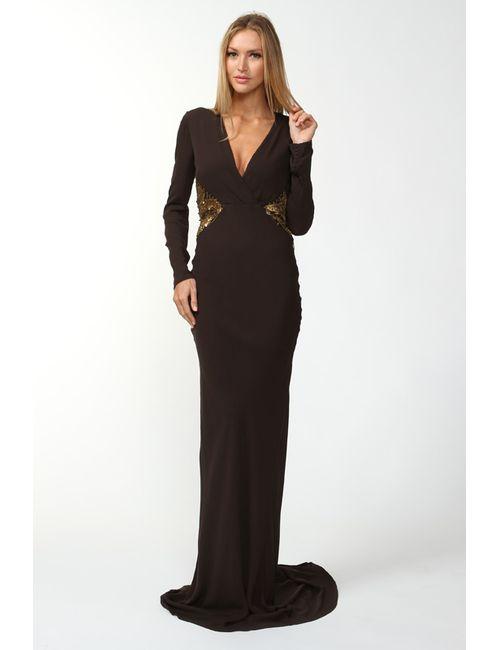 Roberto Cavalli | Женское Коричневое Платье Вечернее