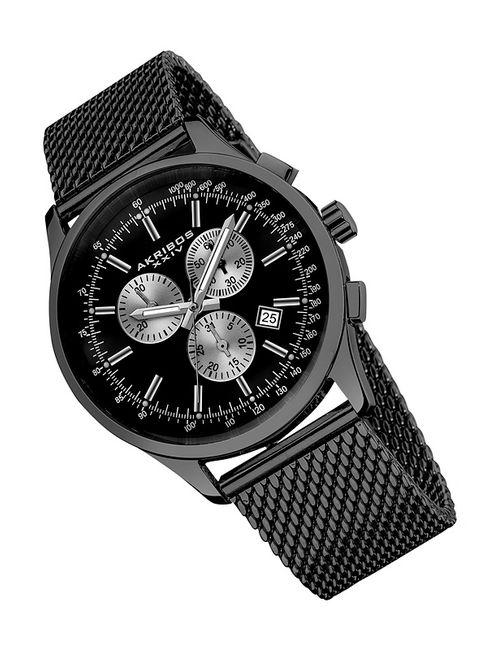 Akribos Xxiv | Мужские Чёрные Часы