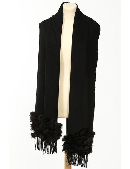 Brodwey Fur | Женский Чёрный Палантин