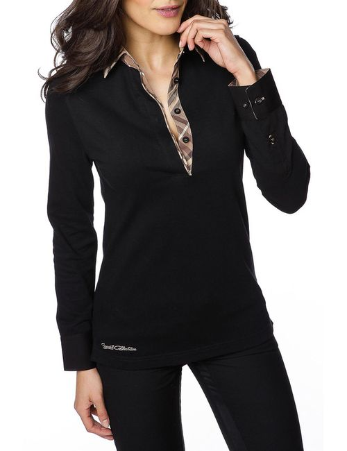 Gazoil | Женская Черный Рубашка-Поло