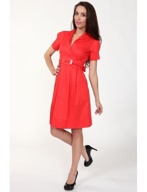 Sisline | Женское Красное Платье С Поясом