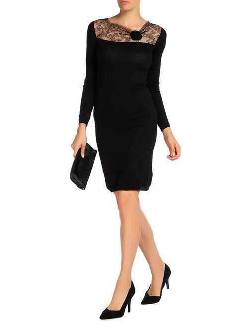 Valentino | Женское Чёрное Платье
