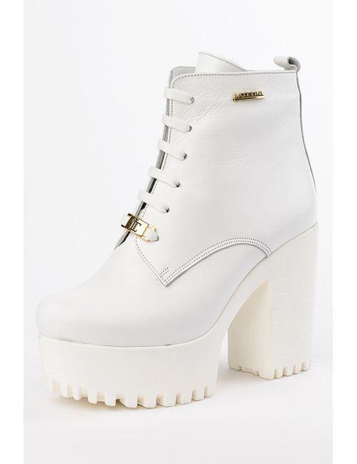 Lottini | Женские Белые Ботинки