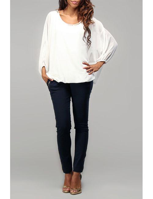 Des Si Belles | Женская Белая Блуза
