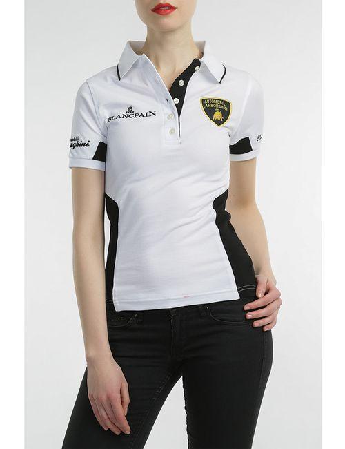 Automobili Lamborghini | Женская Белая Рубашка-Поло