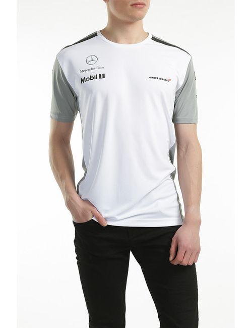 Vodafone Mclaren Mercedes   Мужская Белая Футболка