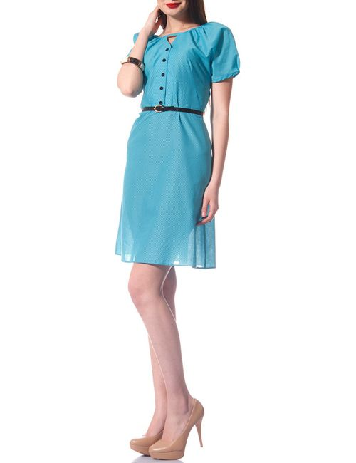 Evercode | Женское Голубое Платье