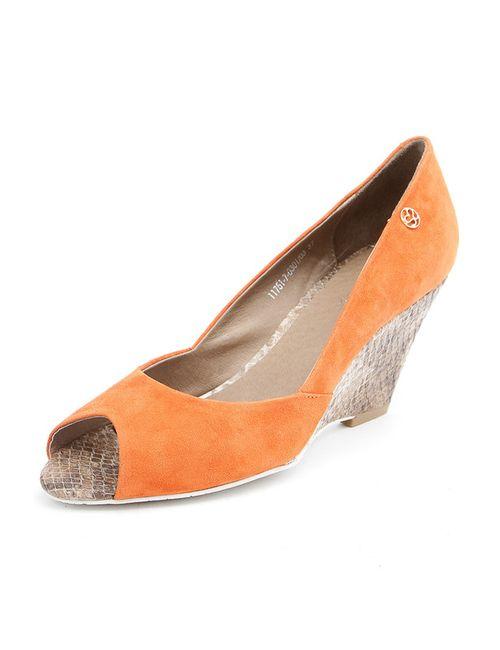 Svetski | Женские Оранжевые Туфли Летние Открытые