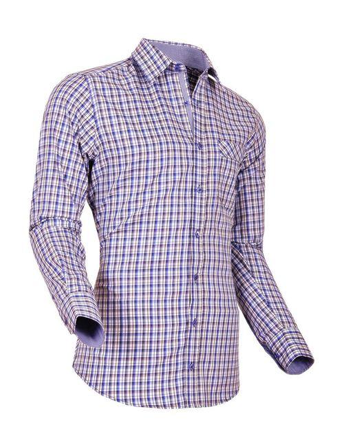 Pontto | Мужская Фиолетовая Рубашка