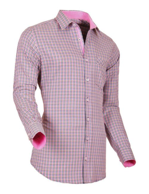 Pontto | Мужская Розовая Рубашка