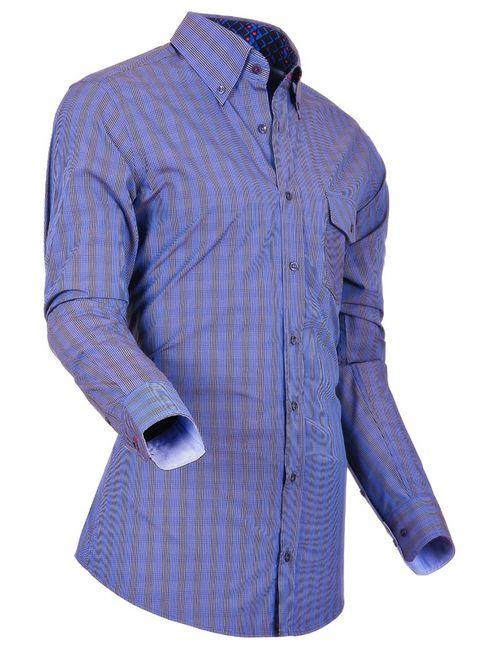 Pontto   Мужская Синяя Рубашка