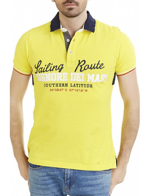 Signore dei mari | Мужская Жёлтая Рубашка-Поло