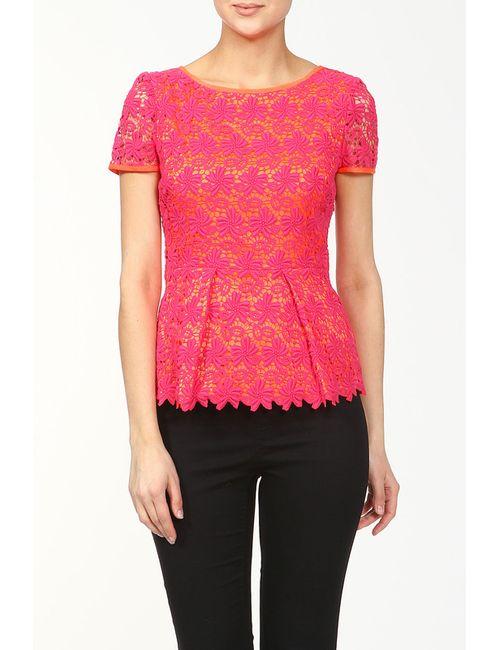 Elie Tahari   Женская Розовая Блуза