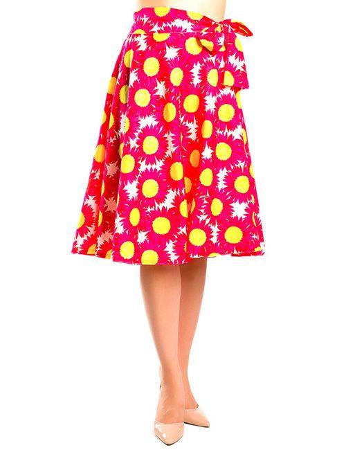 Monamod | Женская Розовая Юбка