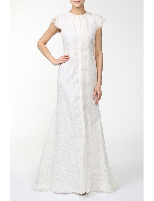 Valentino | Женское Бежевое Платье Вечернее