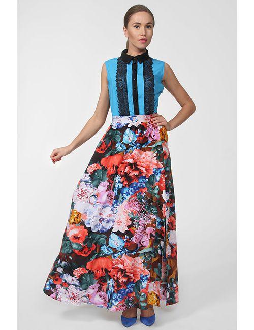 JE SUIS | Женское Голубое Платье Макси