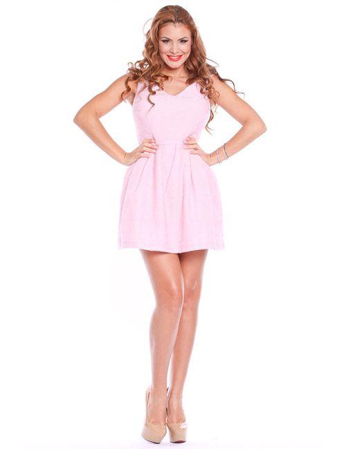 Collezione Di Ines | Женское Розовое Платье