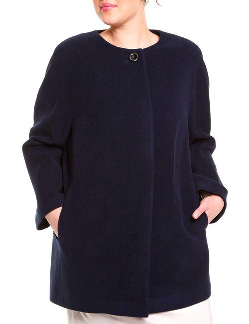 Queen Size | Женское Синее Пальто