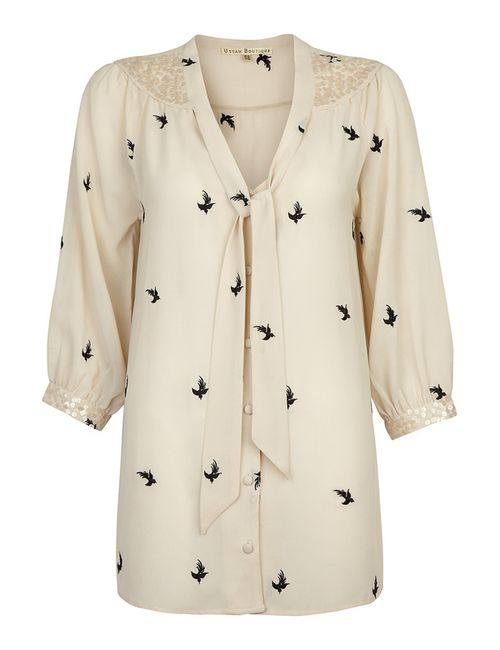Uttam Boutique | Женская Бежевая Блуза