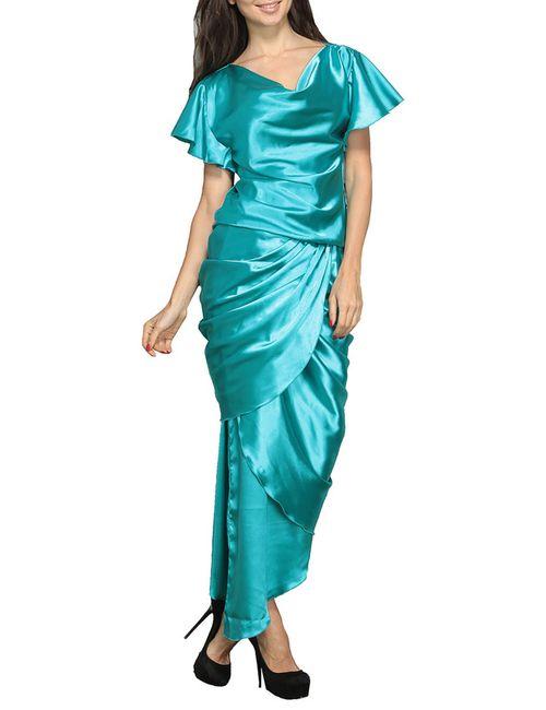 Doctor E   Женское Голубое Платье
