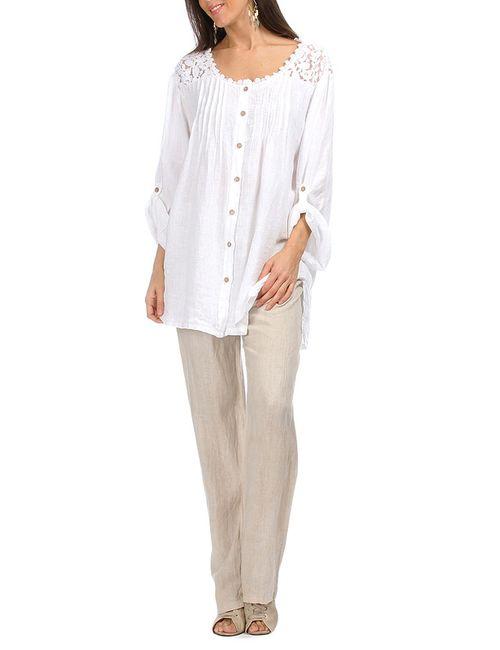 Un Coeur En Ete | Женская Белая Рубашка