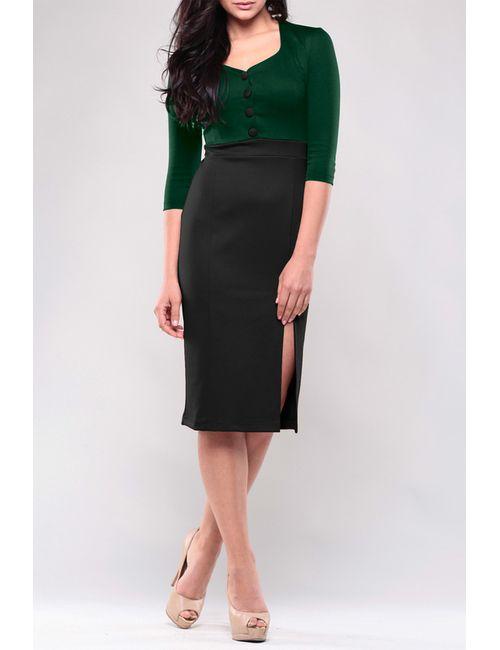 Maurini | Женское Зелёное Платье