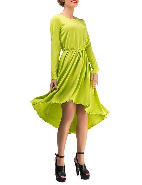 LEBBEL | Женское Зелёное Платье