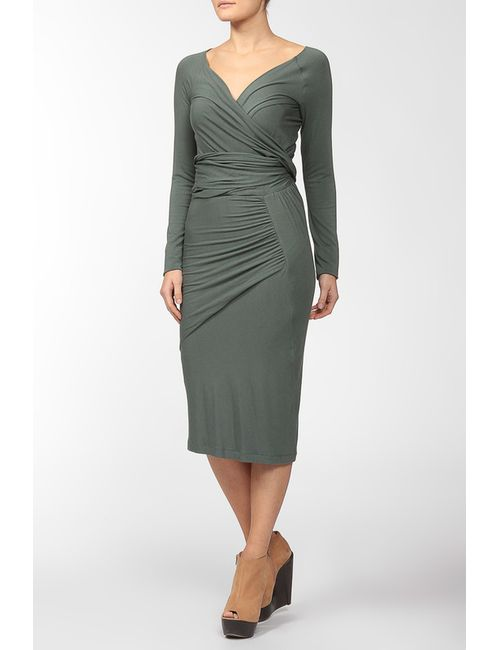 Donna Karan | Женское Голубое Платье