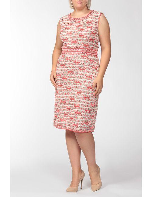 Oscar de la Renta | Женское Красное Платье Вязаное 2 Предмета