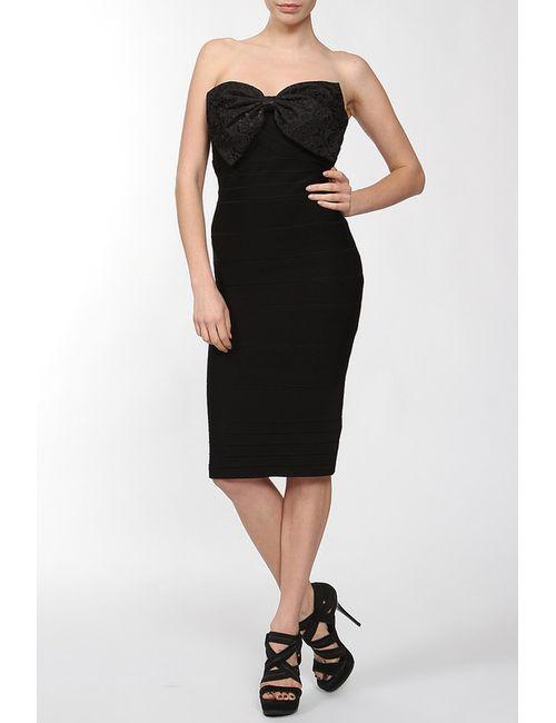 Erin Fetherston | Женское Чёрное Платье С Бантом