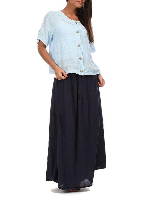 Couleur lin | Женская Синяя Рубашка
