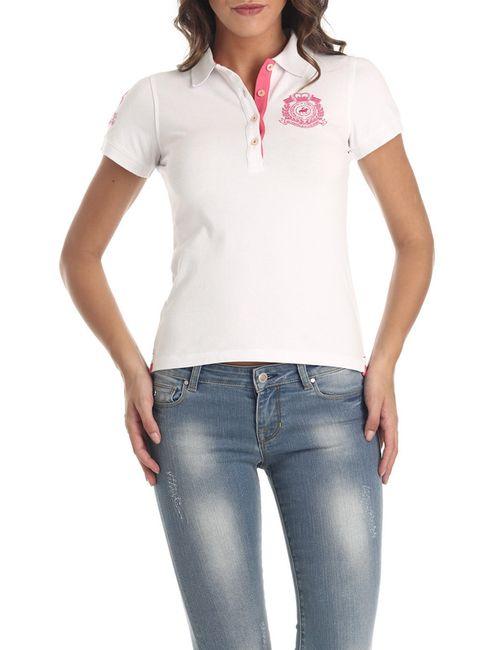 Galvanni | Женская Белая Рубашка-Поло