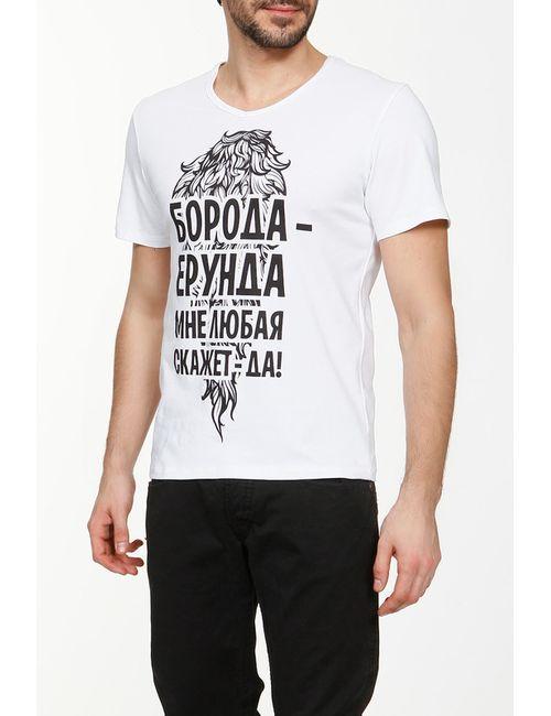 MENDELEEV40   Мужская Белая Футболка