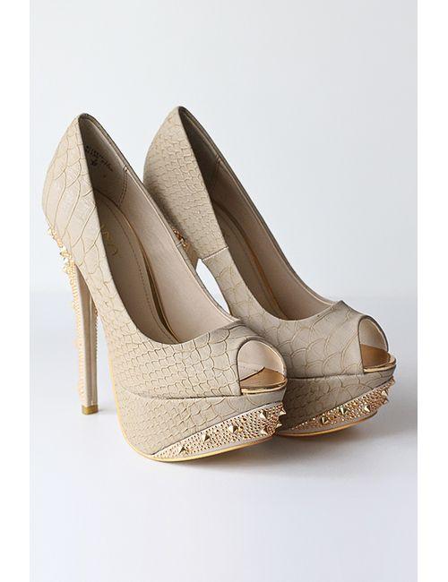 Liana | Женские Бежевые Туфли