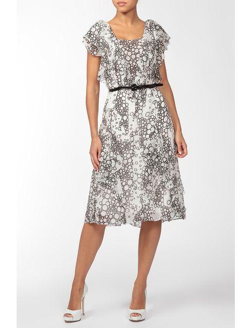 Carolina Herrera | Женское Фиолетовое Платье С Ремнем