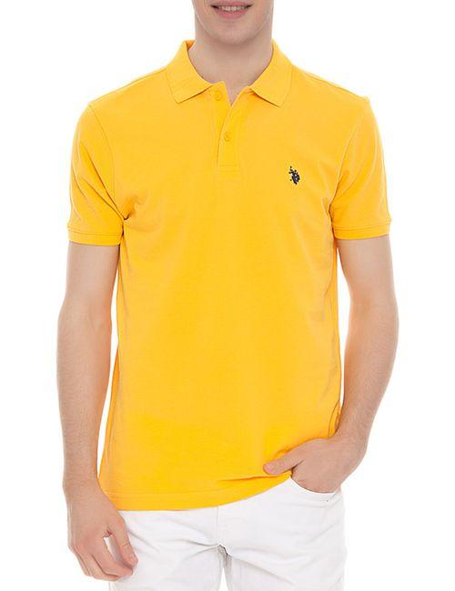 U.S. Polo Assn. | Мужская Жёлтая Футболка