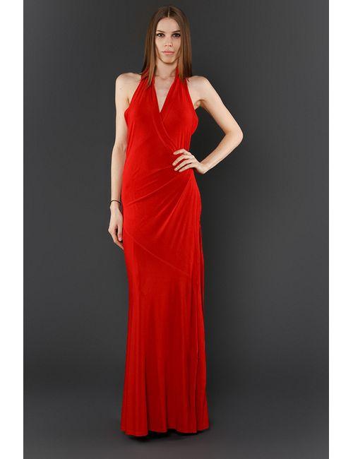 Donna Karan | Женское Красное Платье Вечернее